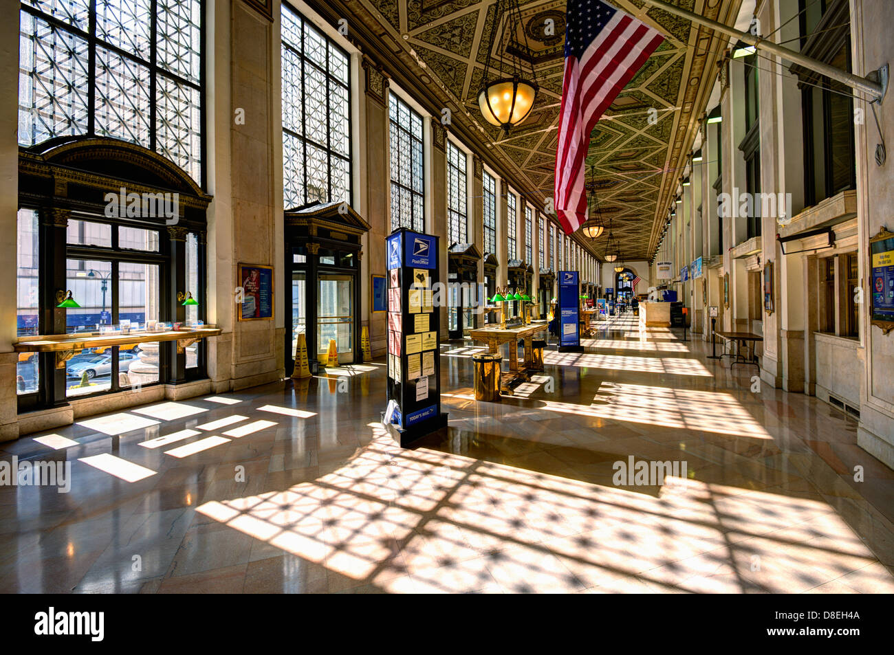 Interior Of United States Post Office In New York City
