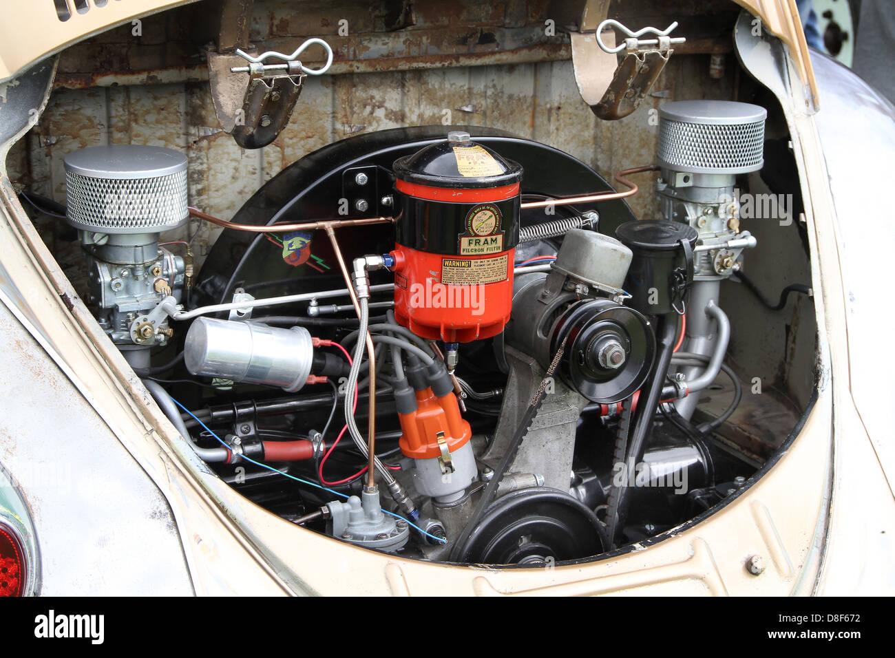 Vw Beetle Engine Bay Stock Photo Alamy