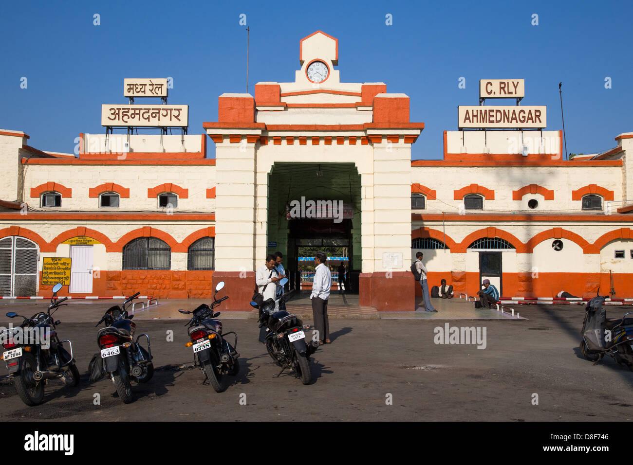 Ahmednagar India  city photos : Ahmednagar Railway Station, Ahmednagar, Maharashtra, India Stock Photo ...