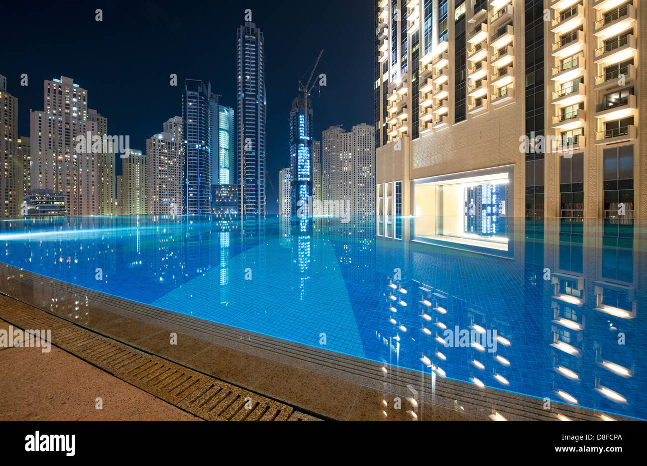 View Of Dubai Marina From The Pool Bar Of The Address Hotel Dubai Stock Photo Royalty Free