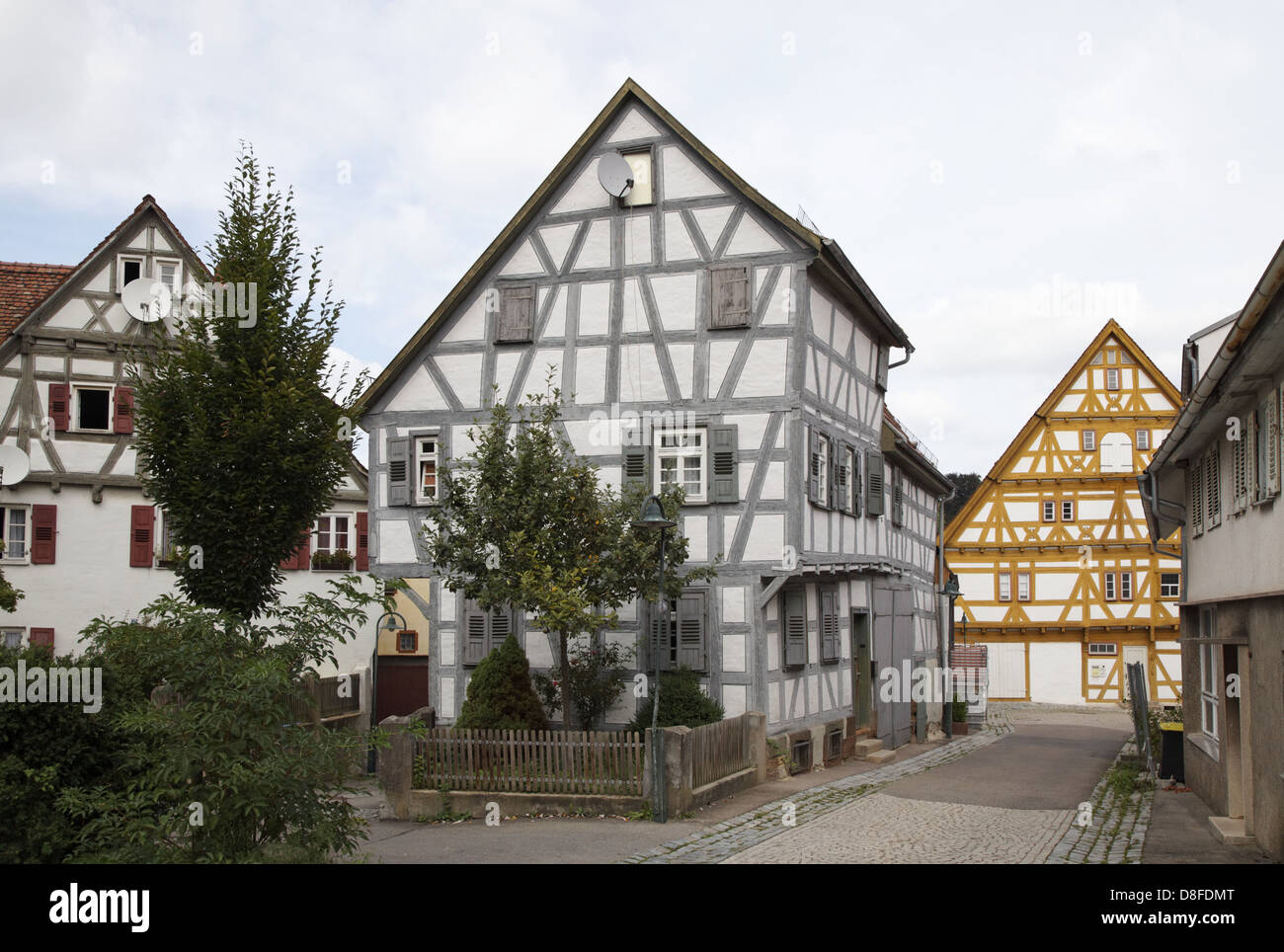 germany baden wuerttemberg waiblingen timbered house peaceful stock photo royalty free image. Black Bedroom Furniture Sets. Home Design Ideas