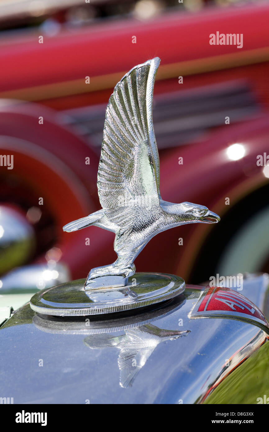 vintage car hood ornament of a eagle stock photo  royalty free image  56902690