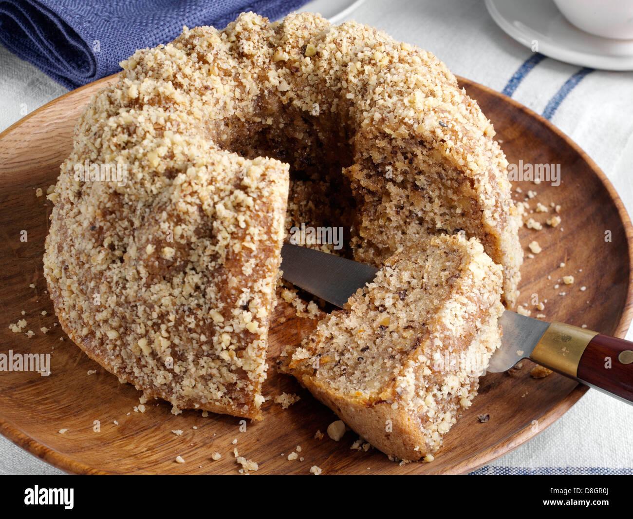 Orange walnut cake Stock Photo, Royalty Free Image ...