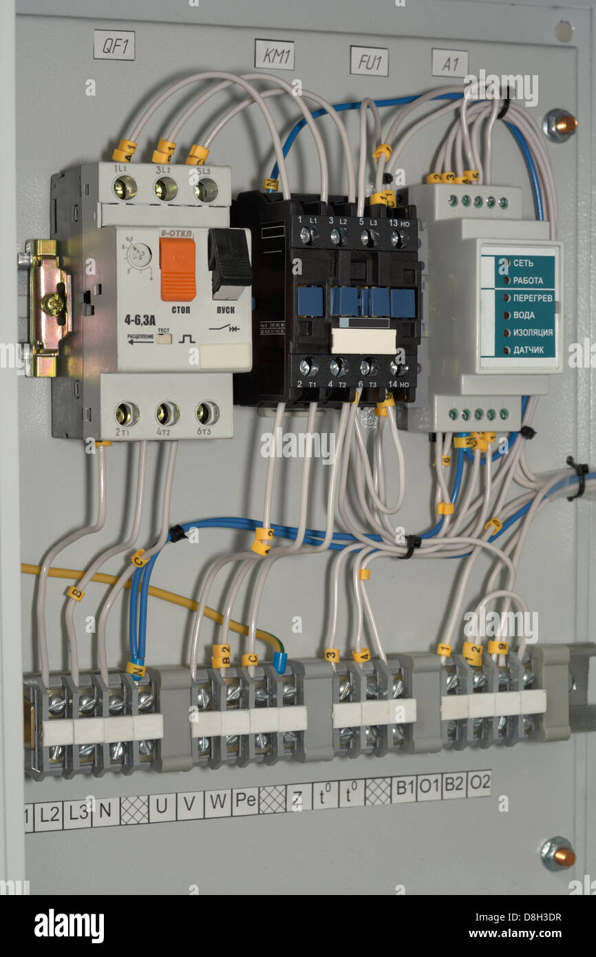electrical  panel  control  power  electric  circuit