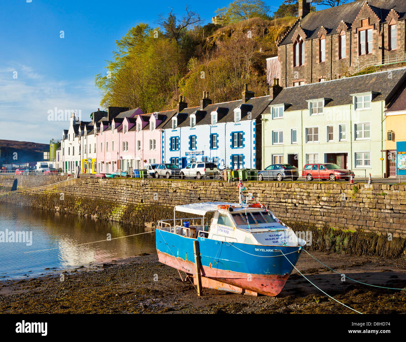 coloured houses in portree harbour isle of skye highlands and islands stock photo royalty free. Black Bedroom Furniture Sets. Home Design Ideas