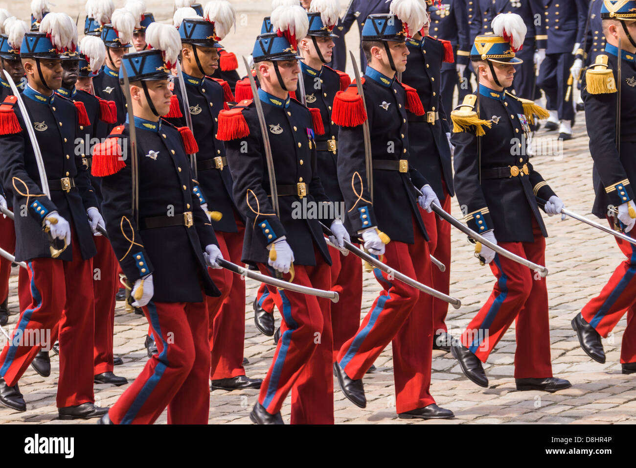Army color casing ceremony script - Officer Cadets From The Famous French Military Academy Saint Cyr March During An Official