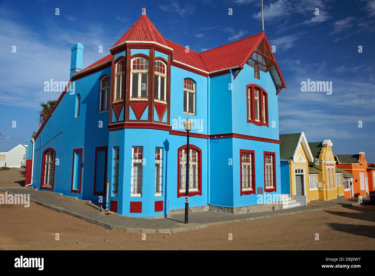 Colourful german colonial architecture luderitz namibia for German colonial house