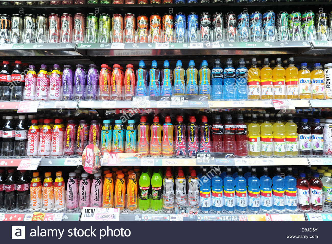 fizzy-drinks-on-a-shelf-on-display-at-a-