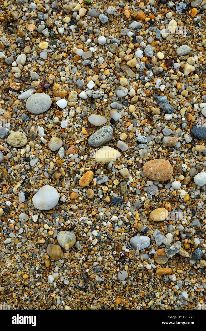 Pebbles and small stones worn smooth by the waves and tides Stock ...