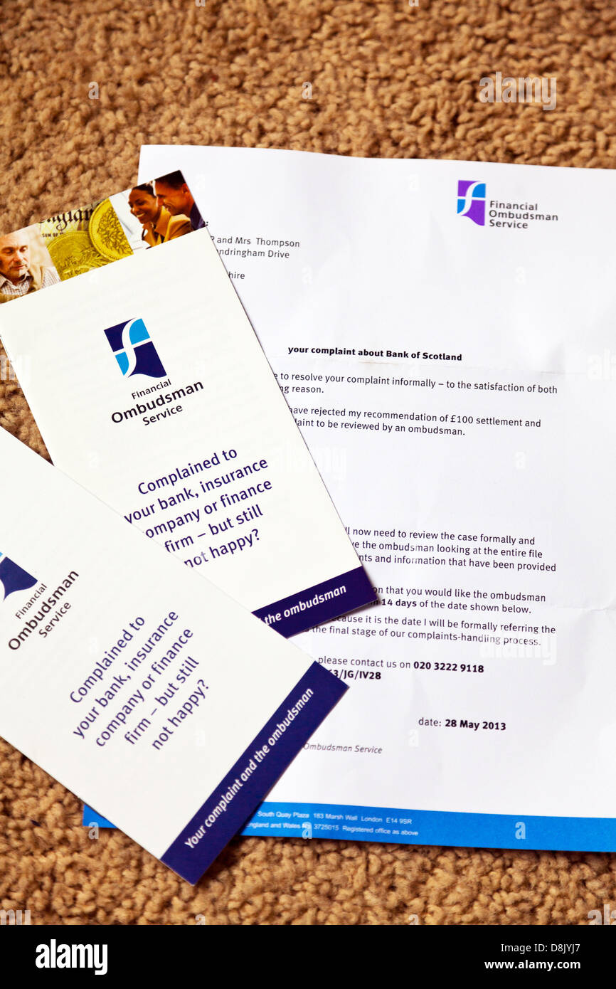 Letter From The Financial Ombudsman Regards Ppi Claim Against