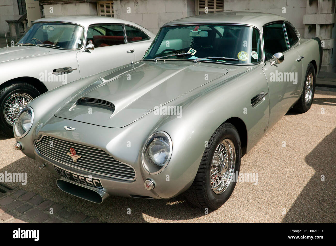 classic aston martin db5 on display at the old royal naval college stock photo royalty free. Black Bedroom Furniture Sets. Home Design Ideas