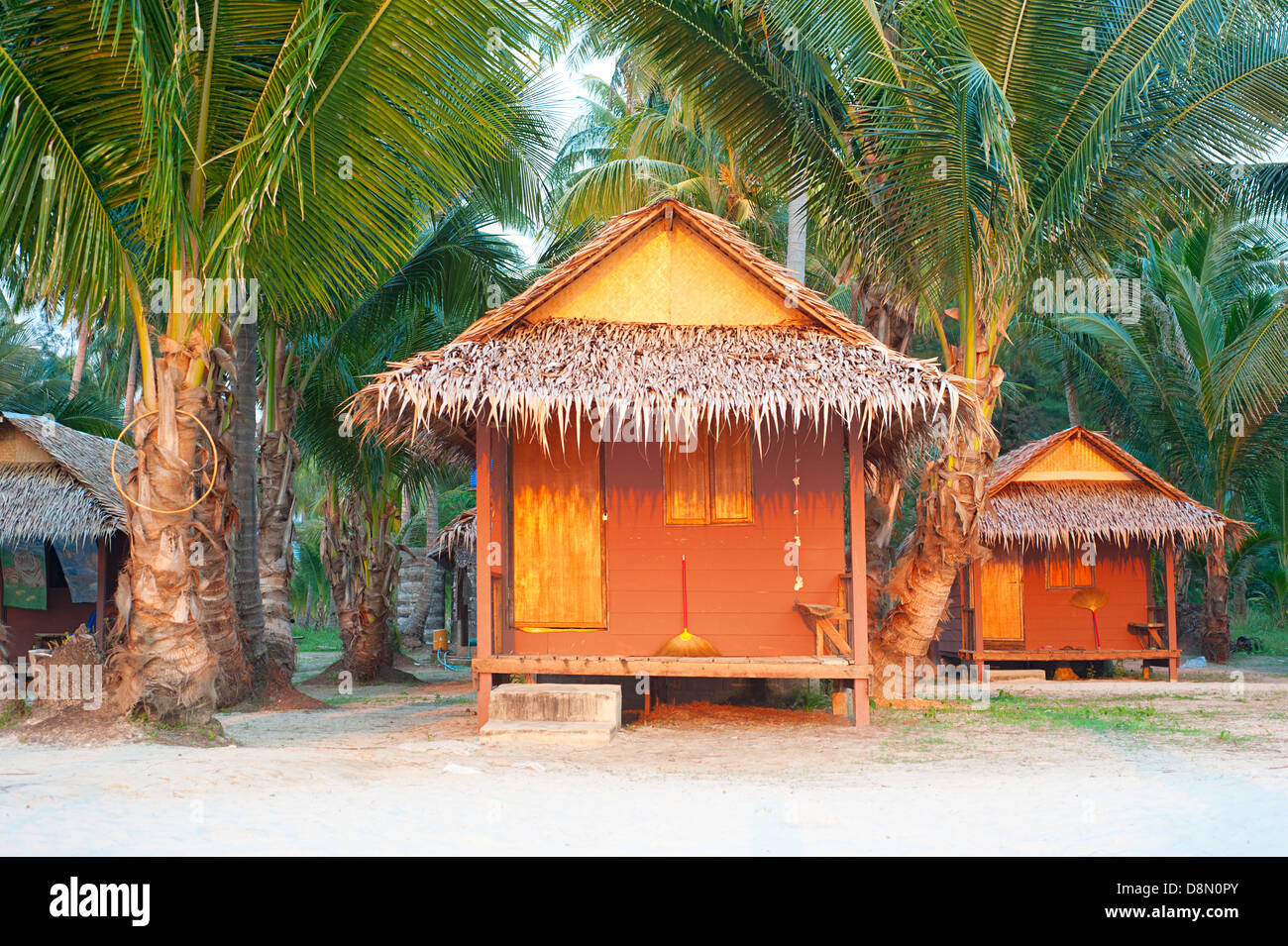 Bamboo Bungalow On The Beach Of Koh Chang Island Thailand