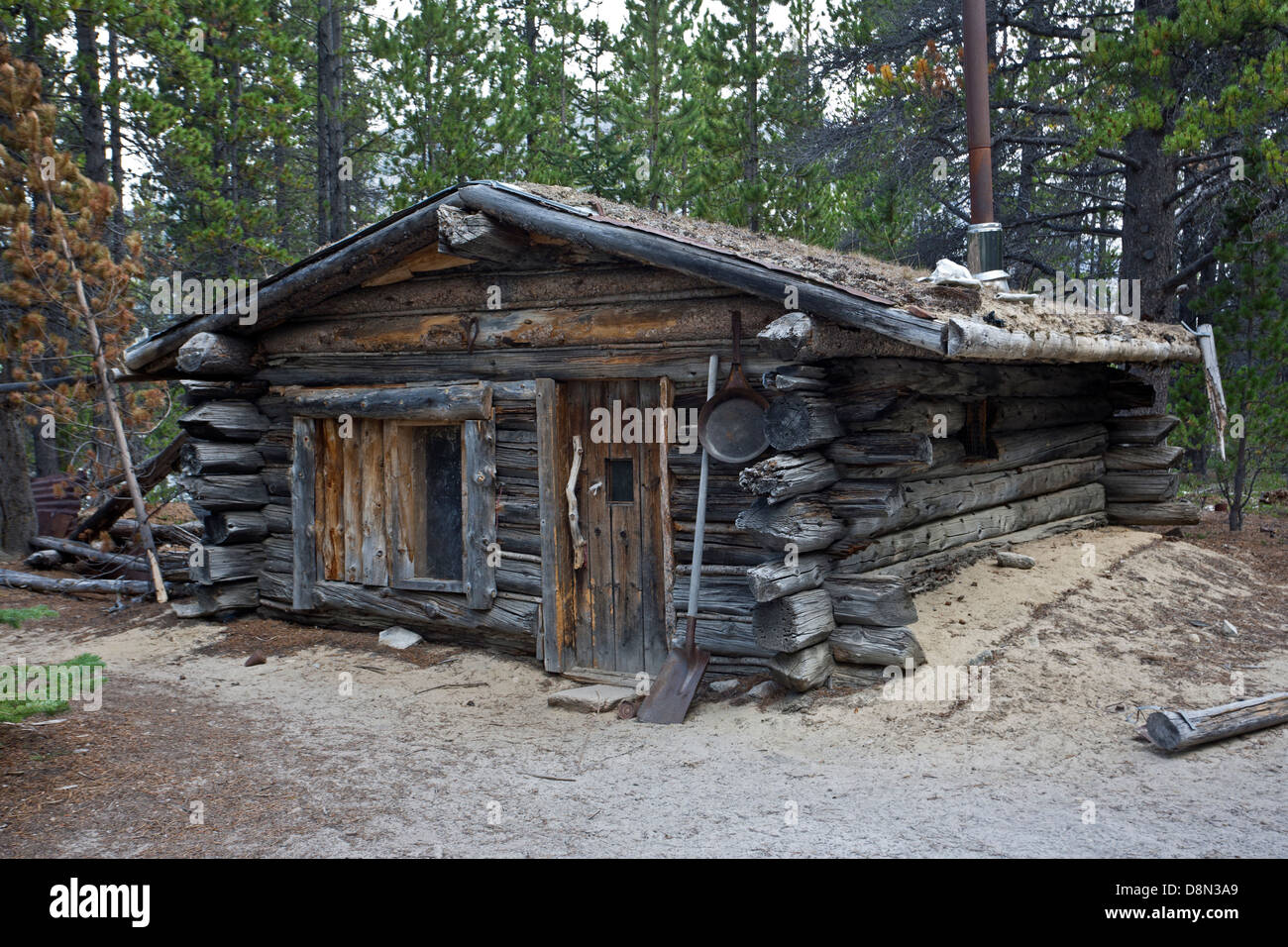 Log Cabin Chilkoot Trail Canada Stock Photo Royalty
