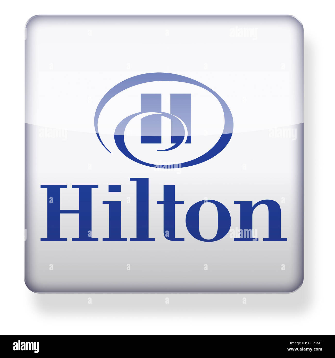 hilton hotels logo as an app icon clipping path included