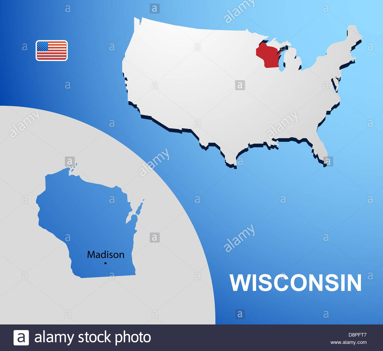 Reference Map Of Wisconsin USA Nations Online Project The Great - Wisconsin on us map