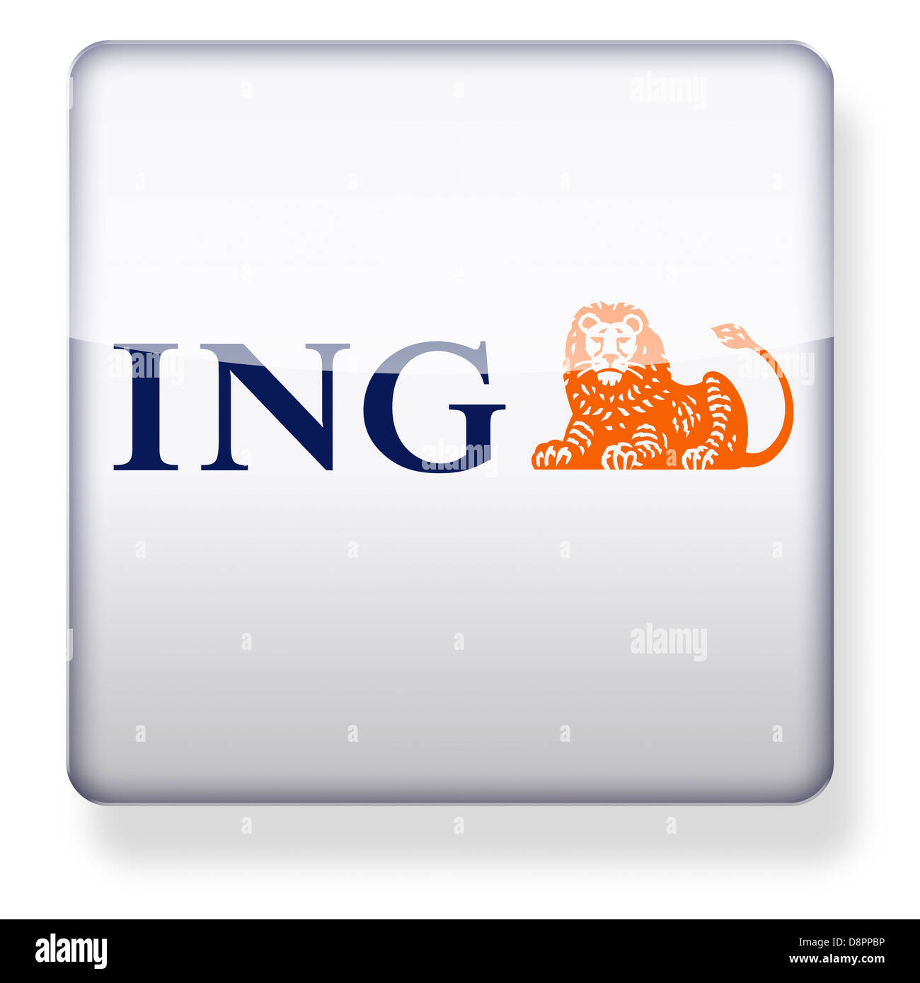 ing bank logo as an app icon clipping path included stock