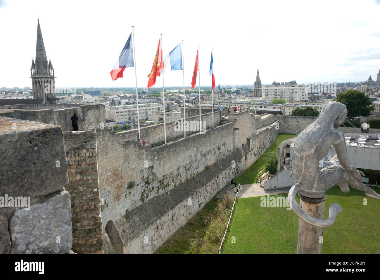 south wall of the chateau du caen the fortress in caen normandy stock photo royalty free. Black Bedroom Furniture Sets. Home Design Ideas