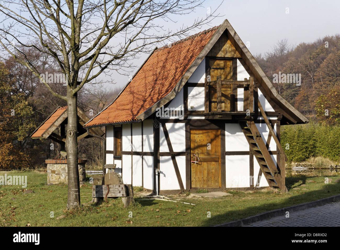 Little garden house - Little Garden House In Lower Saxony Germany Stock Photo