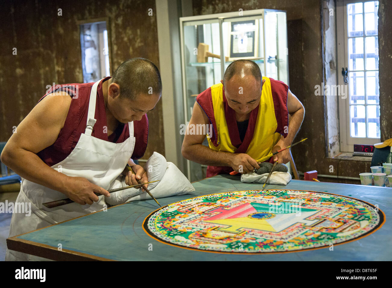 Tibetan buddhist monks craft mandala made from sand may 30 2013 a mandala is a spiritual and ritual symbol in hinduism and buddhism representing the universe biocorpaavc Images
