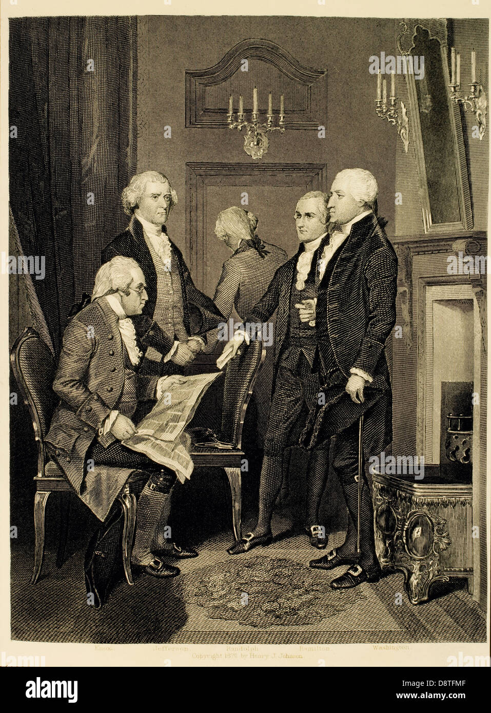 Members of George Washington's First Government Cabinet, February ...