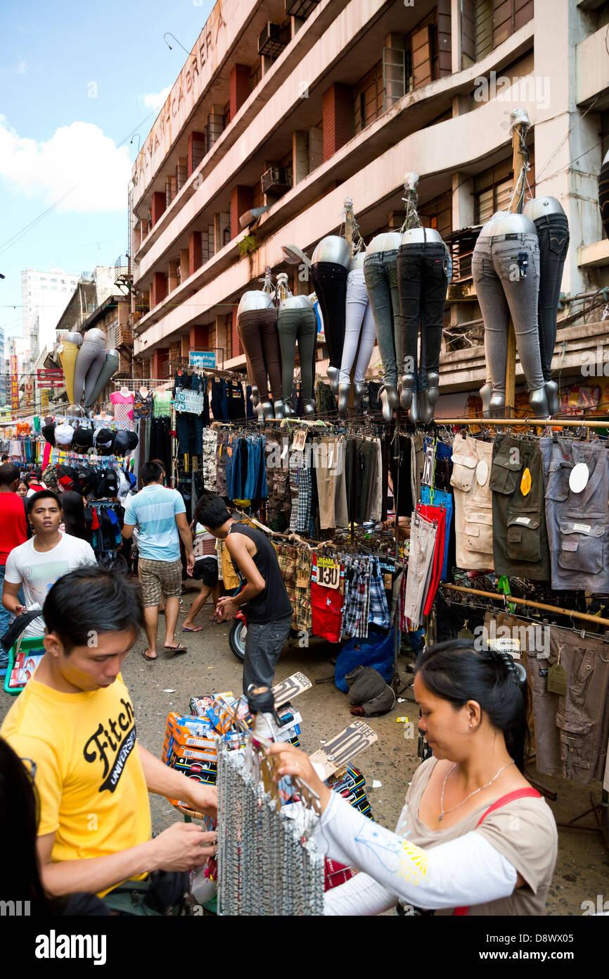 Scenery On The Divisoria Market In Manila, Philippines Stock Photo ...