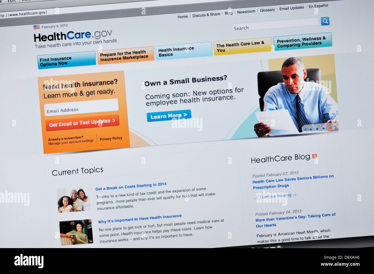 Healthcare Gov Quotes Entrancing Healthcare.gov Website  Online Health Insurance Quotes Stock