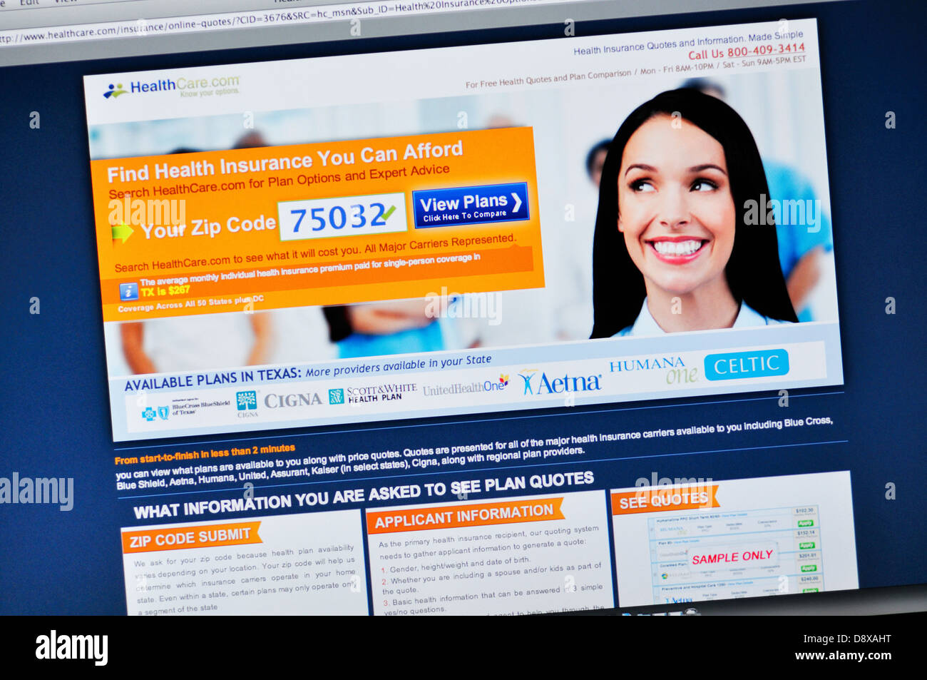 Online Health Insurance Quotes Healthcare Website  Online Health Insurance Quotes Stock