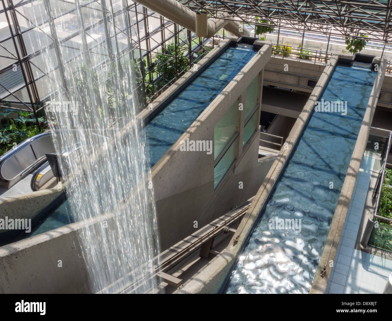 Stock Photo - indoor waterfall in Shaw conference centre in Edmonton