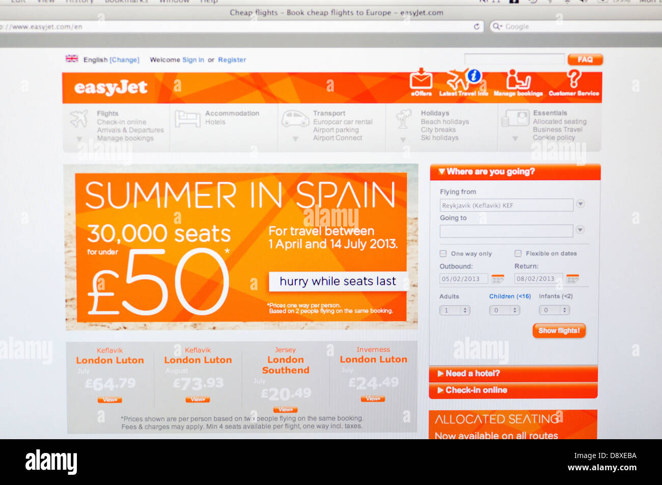 Easyjet website online discount airline tickets stock for Online discount shopping sites