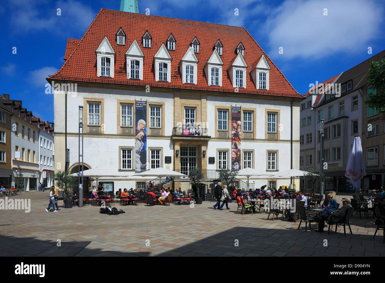 alter markt mit theater am alten markt in bielefeld teutoburger stock photo royalty free. Black Bedroom Furniture Sets. Home Design Ideas