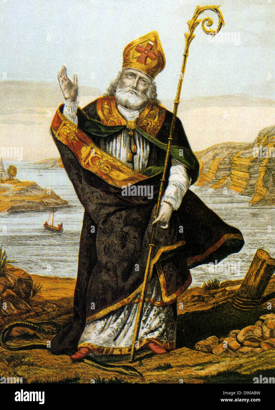 st patrick c 387 460 romano british christian missionary in an