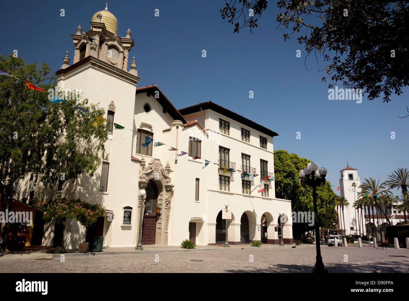 Spanish Architecture Mexican Consulate Building In Historic Olvera Street Downtown Los Angeles California