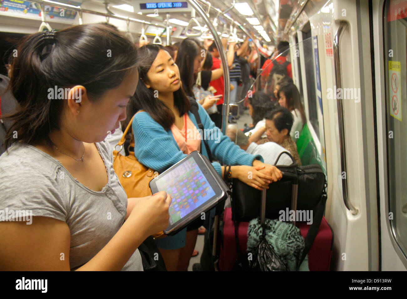 Asian girl in public