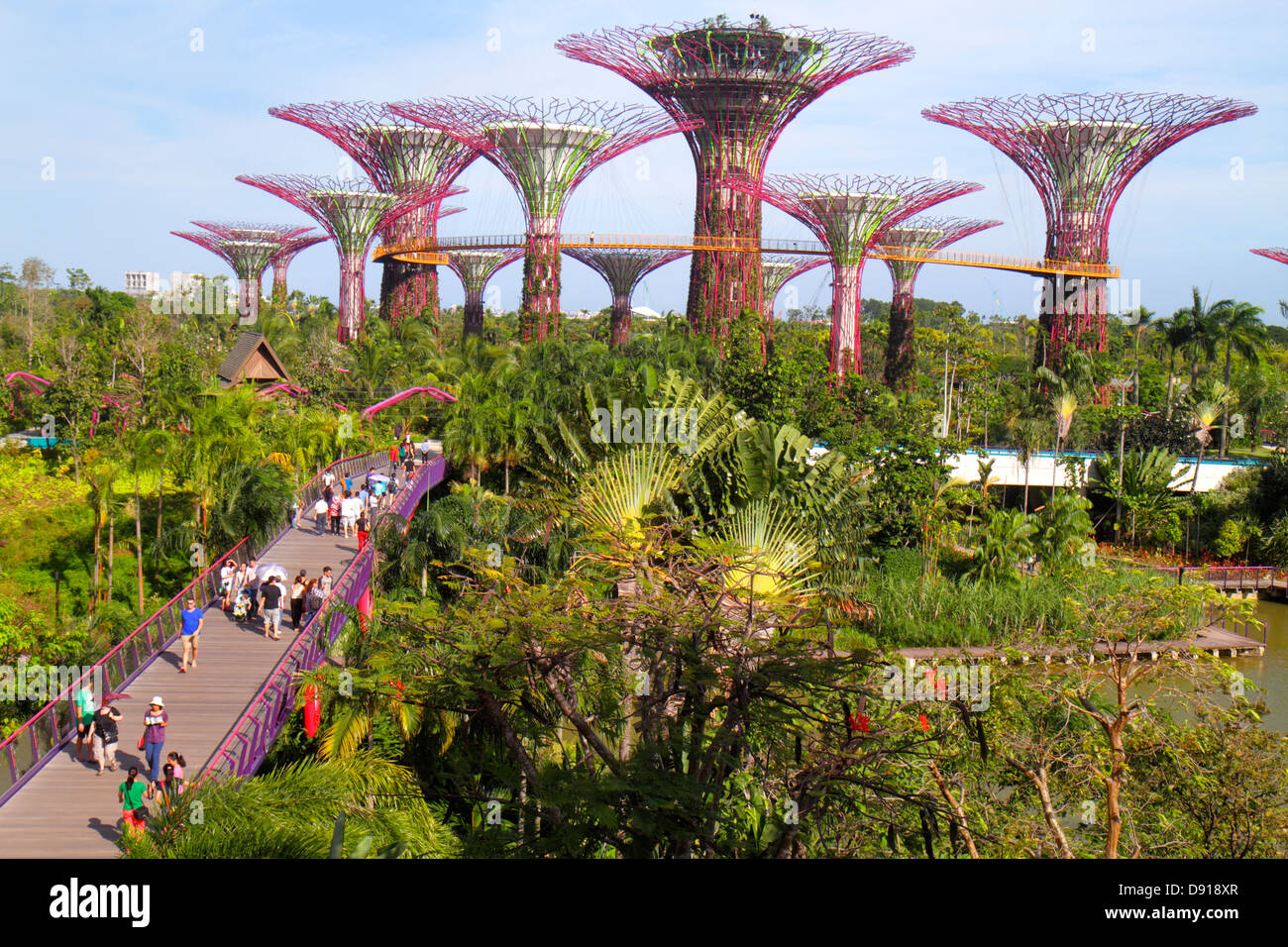 Singapore Gardens by the Bay park Supertrees elevated ...