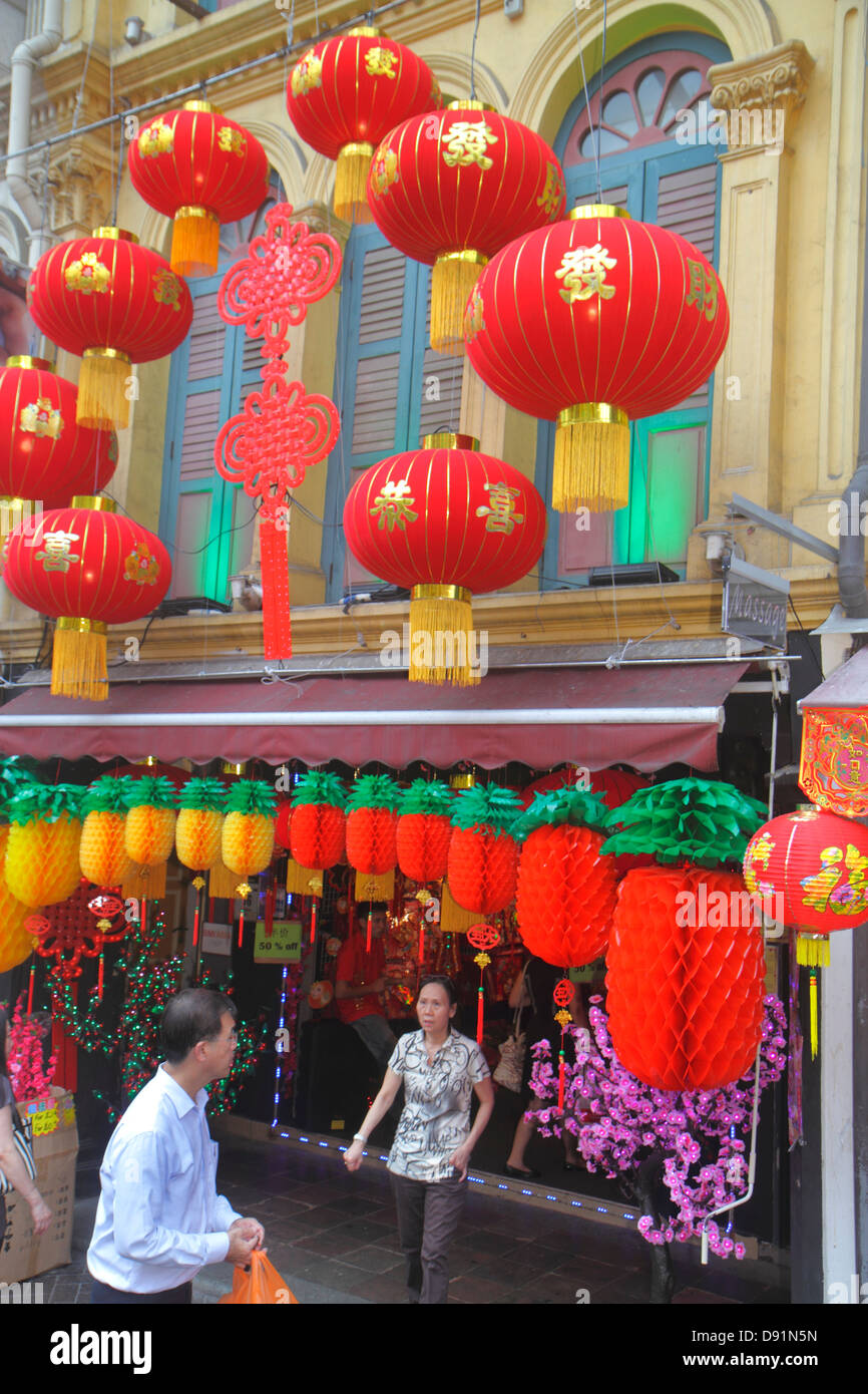 Singapore Chinatown Chinese New Year decorations ornaments ...