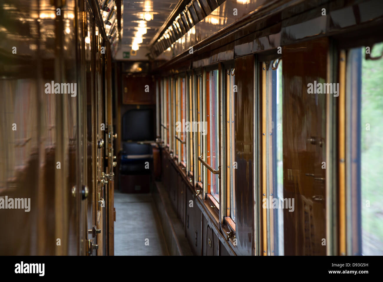 Venice Simplon Orient Express Train Carriage Interior
