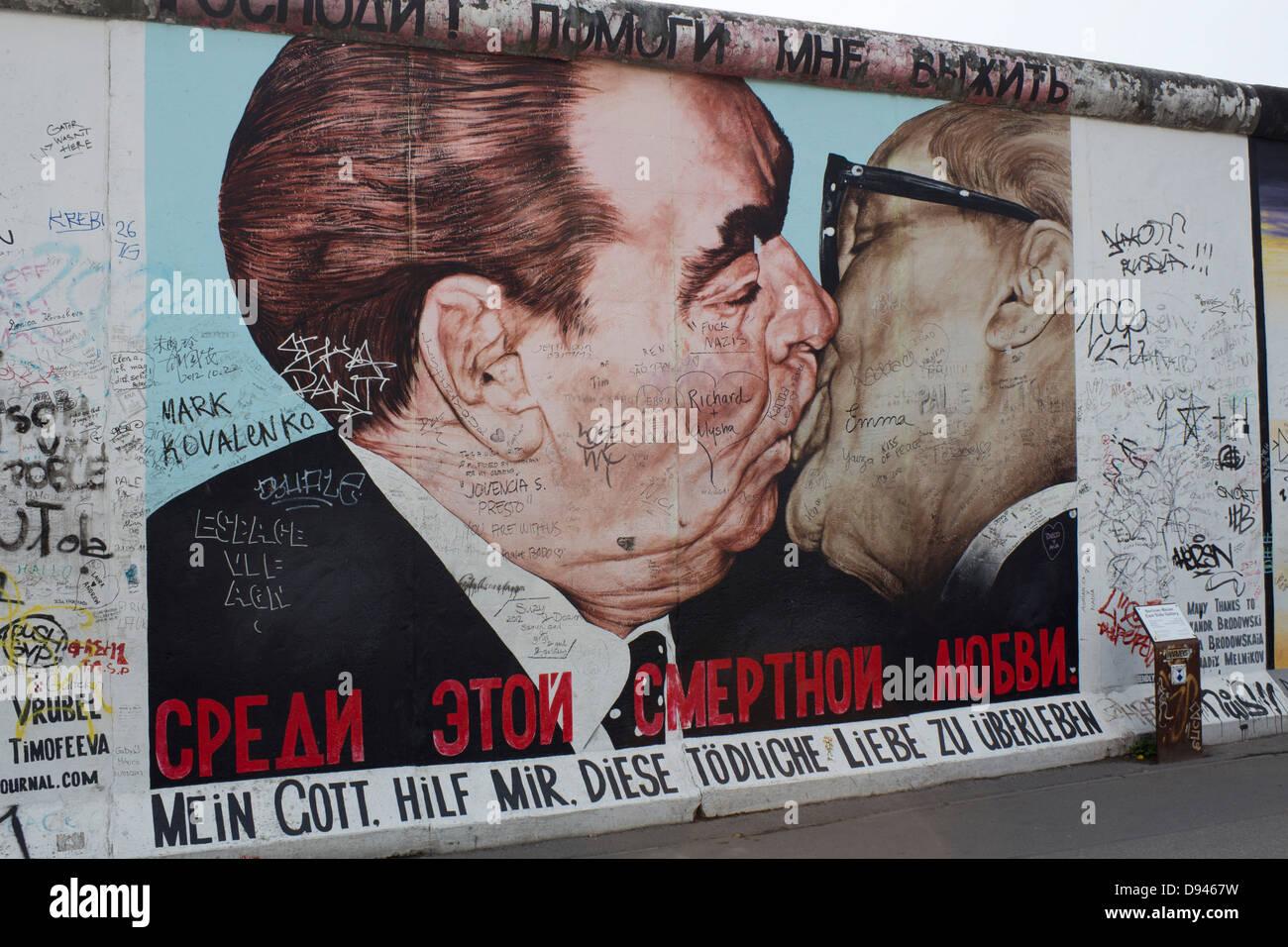 Kissing Painting Berlin Wall