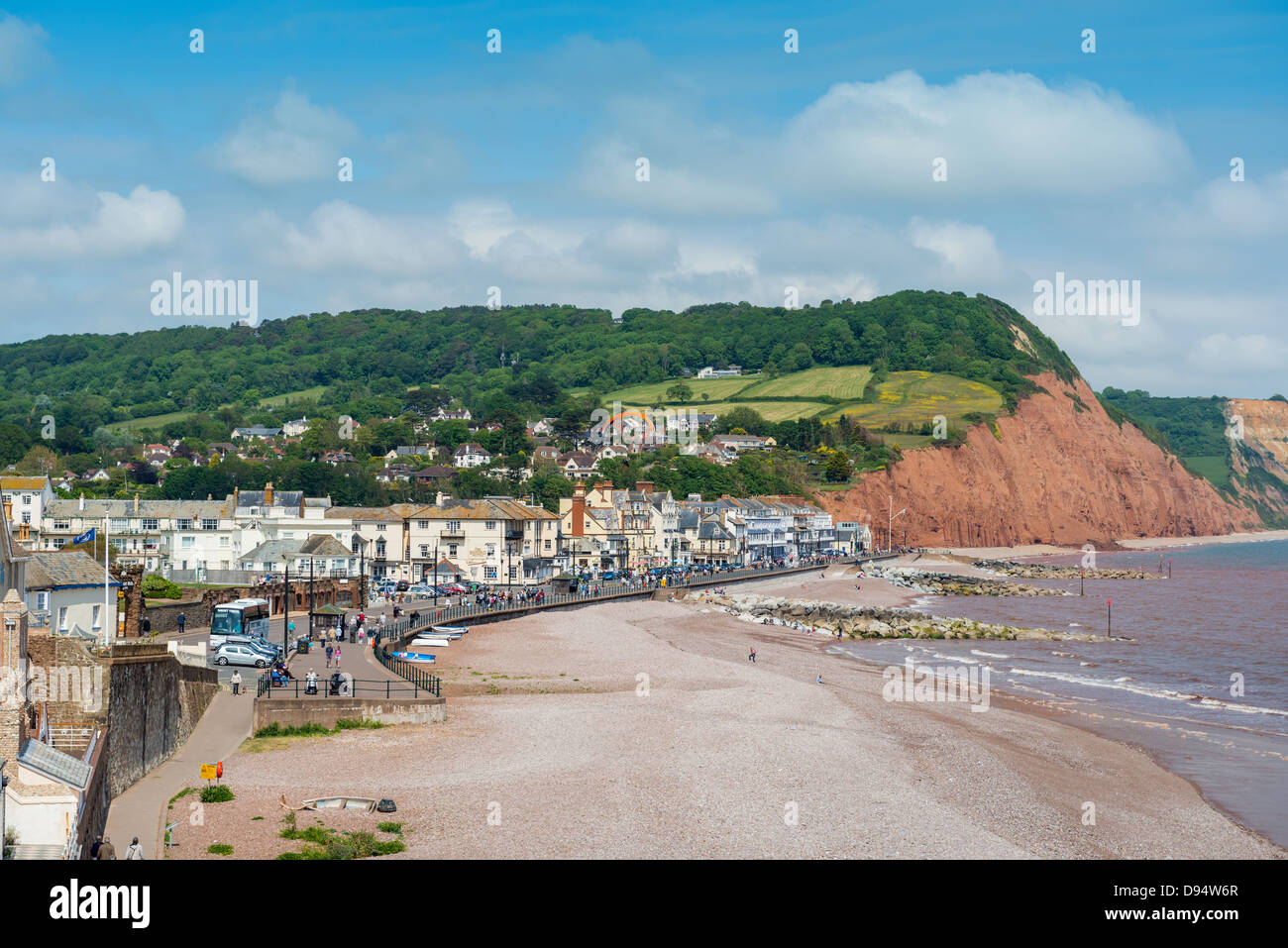 Sidmouth Devon England Sidmouth Town And Sea Front With