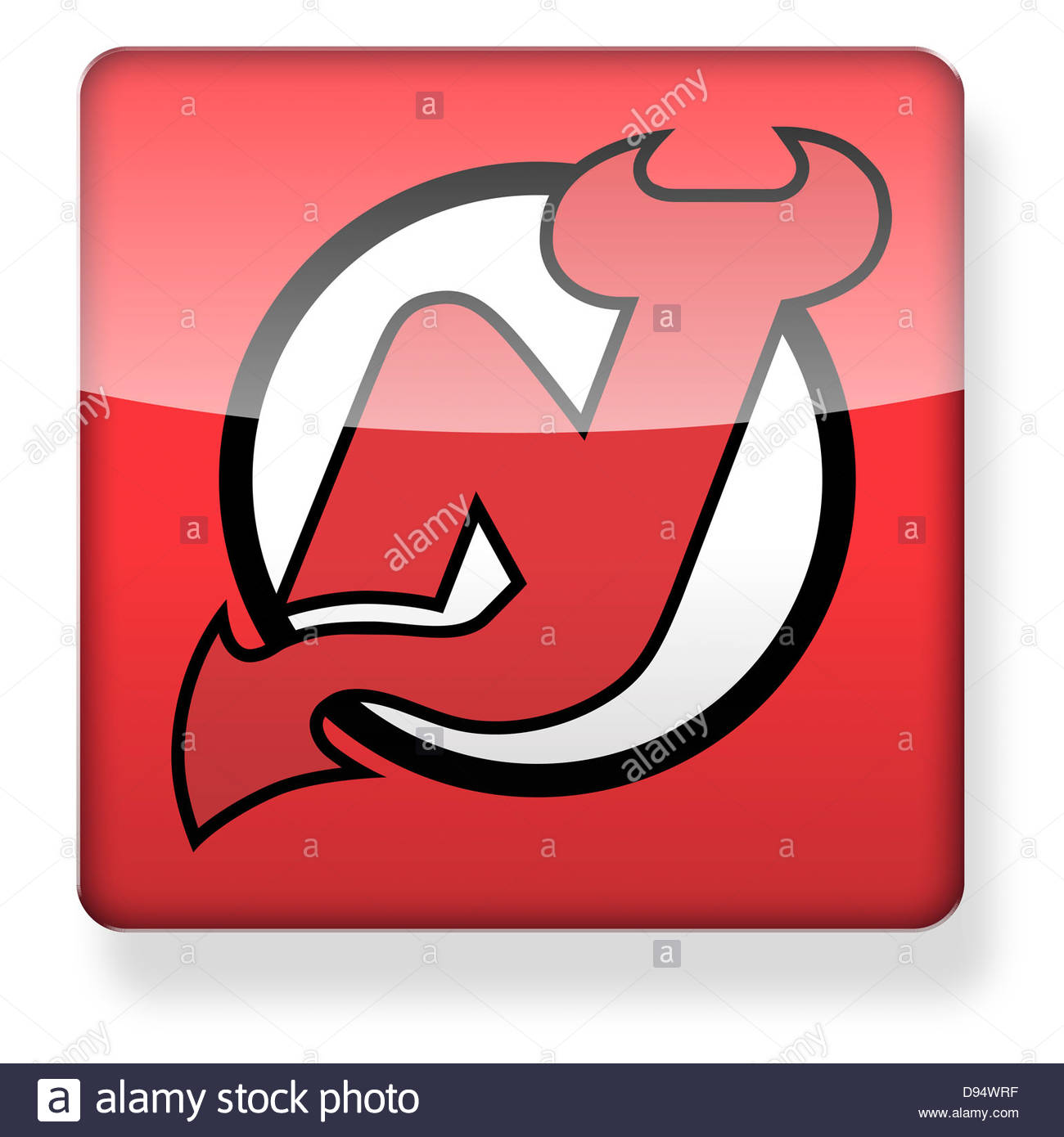 New Jersey Devils Hockey Team Logo As An App Icon. Clipping Path ...