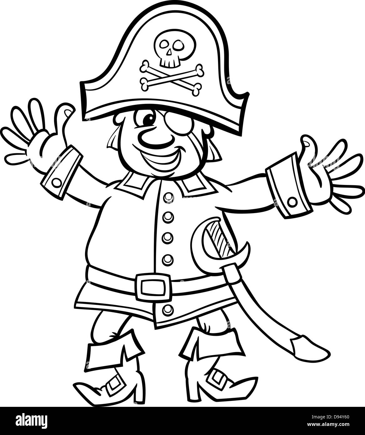 pirate coloring pages cartoon - photo#35