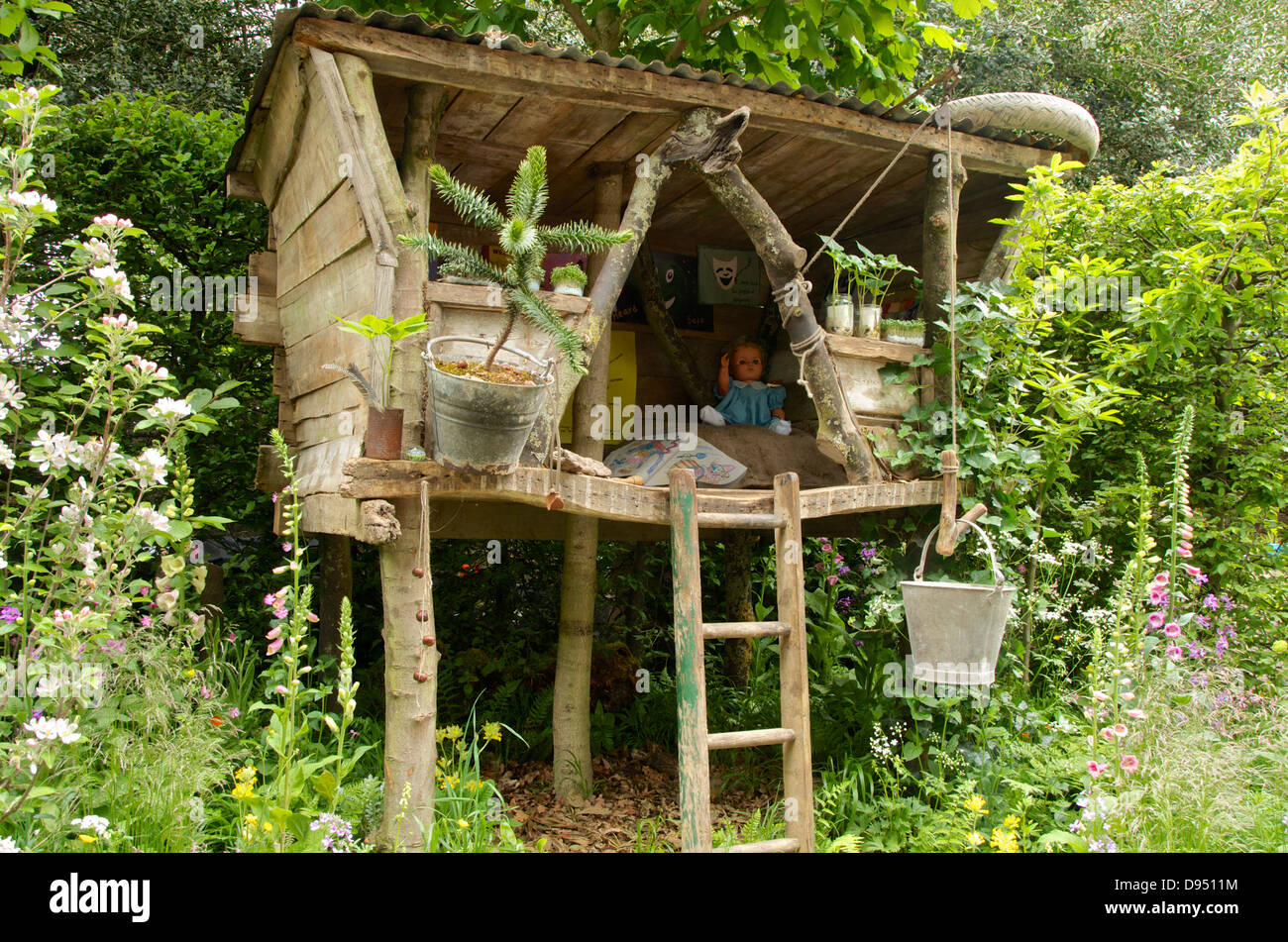 Tree house in the What Will We Leave? NSPCC Garden of Magical ...