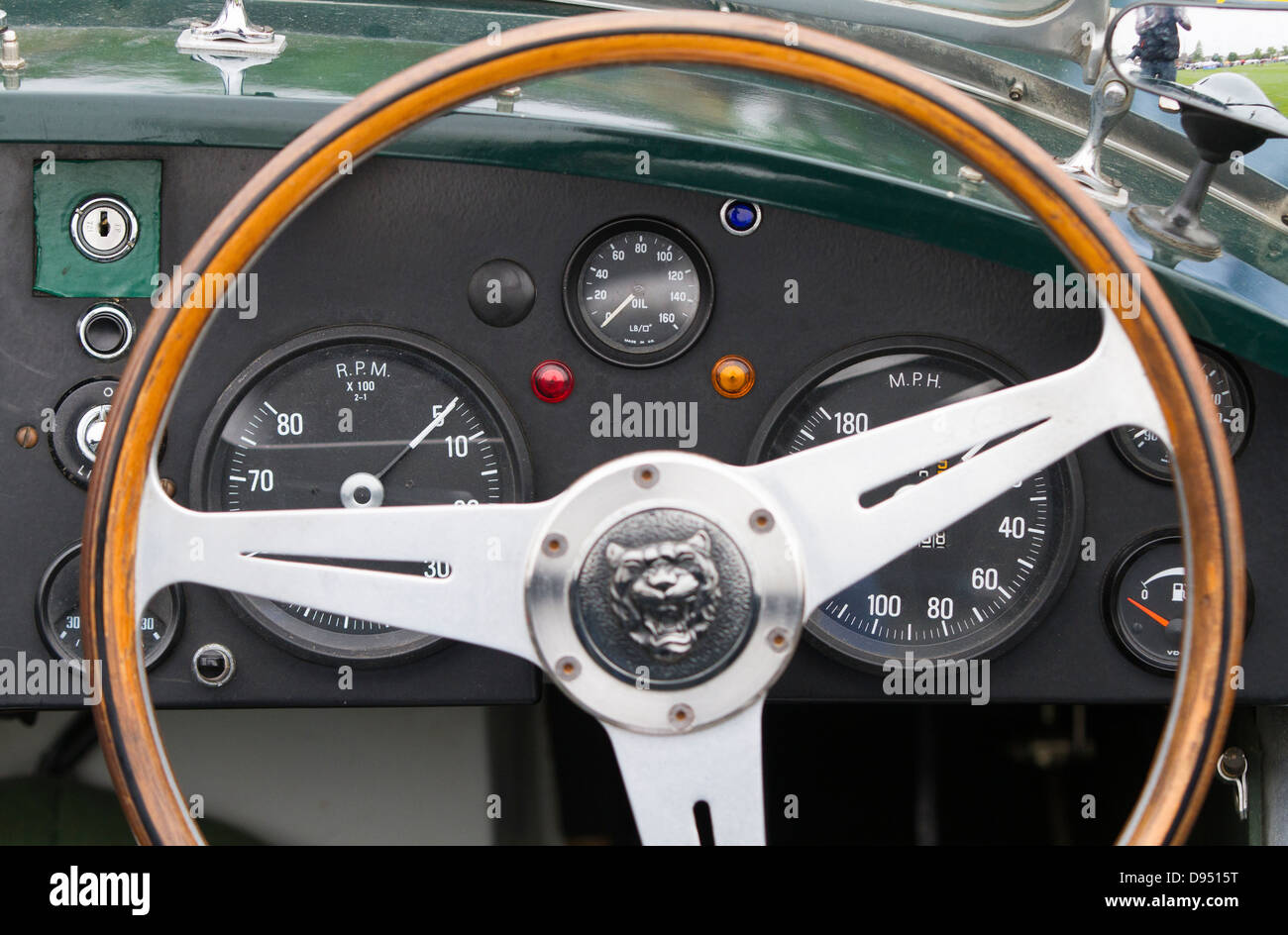 interior dashboard of a classic jaguar car pictured outdoors stock photo royalty free image. Black Bedroom Furniture Sets. Home Design Ideas