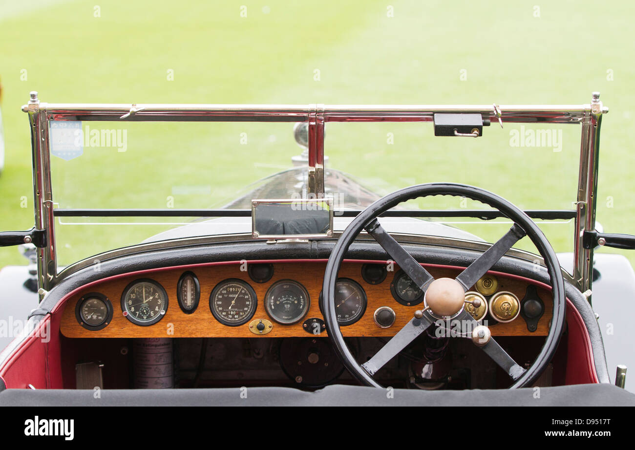 interior dashboard of a classic car pictured outdoors stock photo royalty free image 57273772. Black Bedroom Furniture Sets. Home Design Ideas