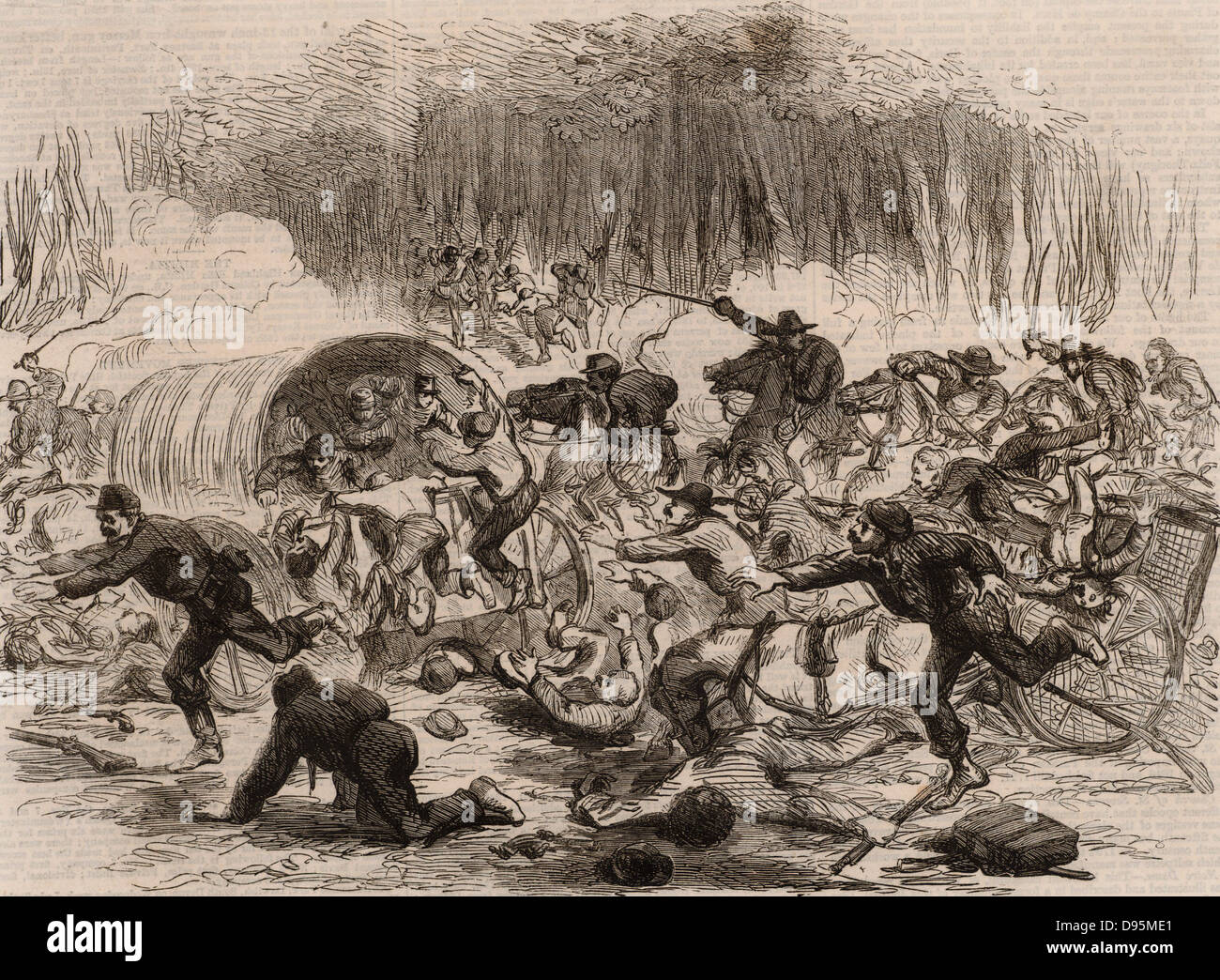 defeat in war. american civil war 18611865 first battle of bull run manassas virginia defeat and stampede the union troops 21 july in a