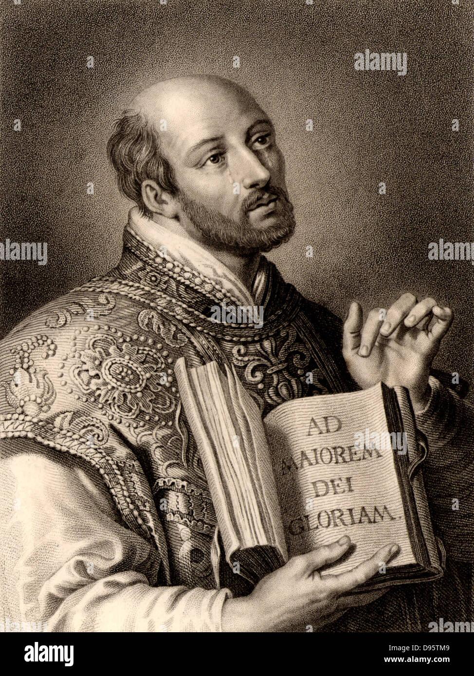 Ignatius loyola born inigo lopez de recalde 1491 1556 spanish soldier and