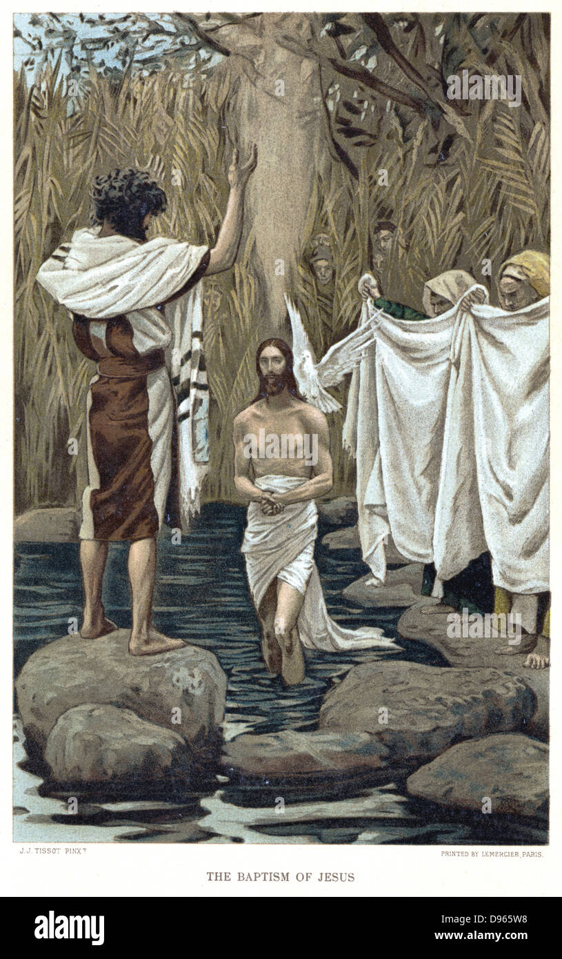 baptism of jesus by john the baptist bible new testament from