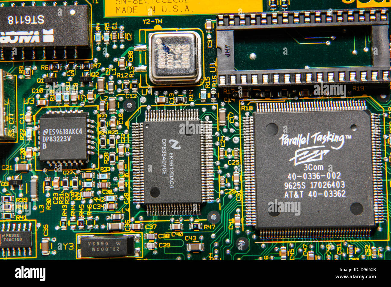 Basic Parts Of A Motherboard: Close-up Macro Photography Of A Parts And Motherboard And