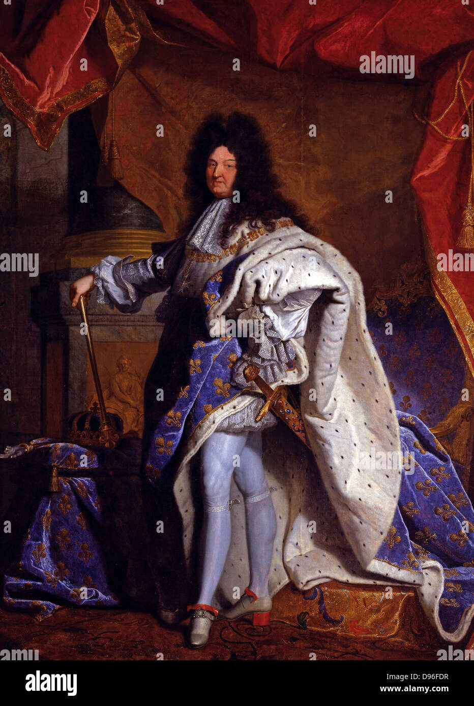painting of louis xiv king of france 1638 1715 by hyacinthe rigaud stock photo royalty free. Black Bedroom Furniture Sets. Home Design Ideas