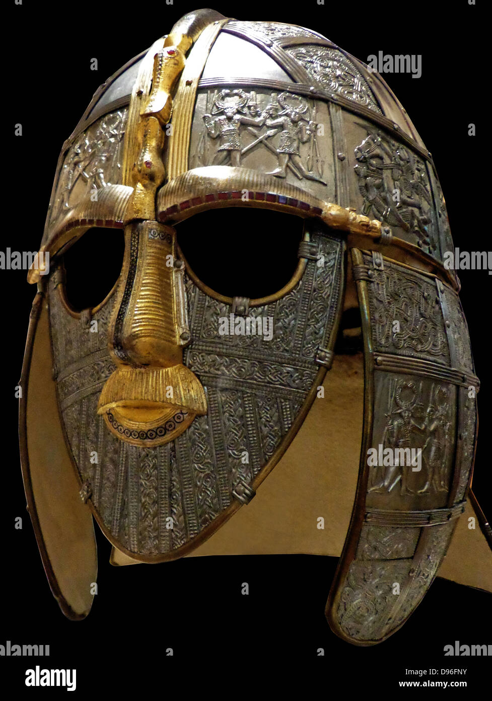 Replica of the sutton hoo helmet produced in the 1970 39 s for The sutton