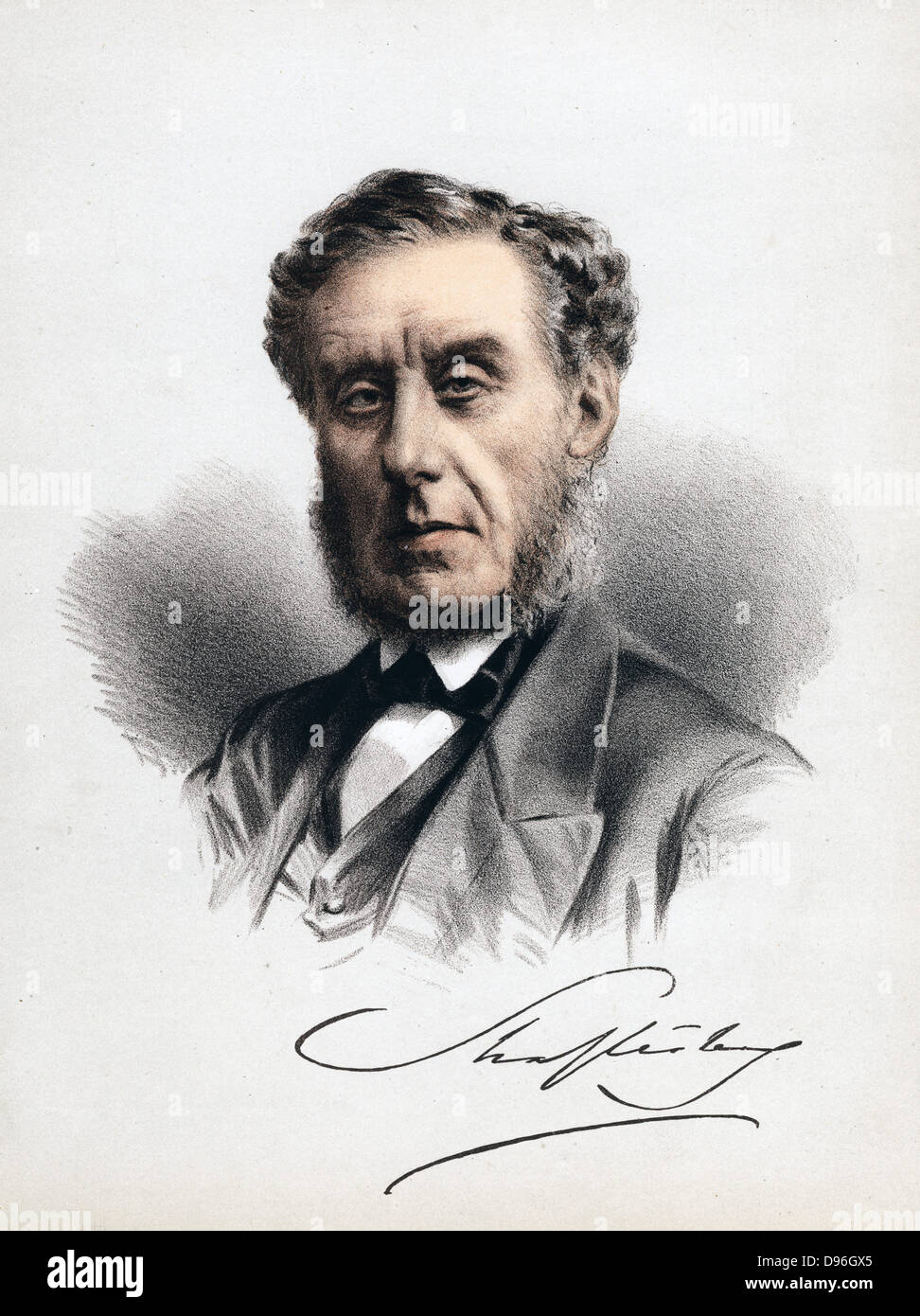 Anthony Ashley Cooper 7th Earl of Shaftesbury 1801 1885 c1880